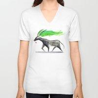 hannibal V-neck T-shirts featuring Hannibal  by gunberk