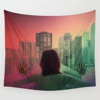 abyss Wall Tapestries featuring CHICAGO ABYSS by Kelsey Barrentine