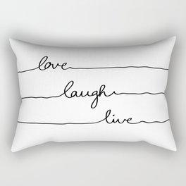Love Laugh Live Rectangular Pillow