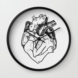 One heart. Wall Clock