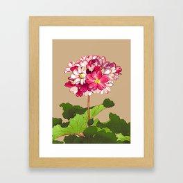 Vintage Japanese Hydrangea. Fuchsia Pink and Green Framed Art Print
