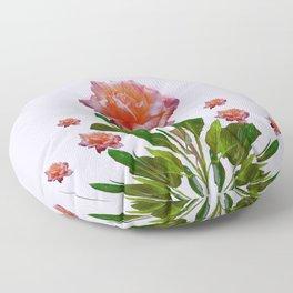 GREY ORNATE VINTAGE  ROSES DESIGN Floor Pillow
