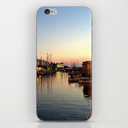 Sunset on Ciutadella Harbor 2 iPhone Skin