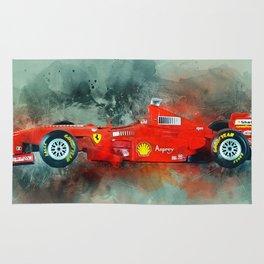 F1 Sports Car Rug