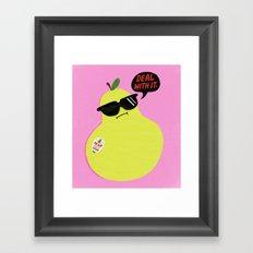 Pear Don't Care Framed Art Print
