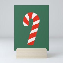 Candy Canes - Green Mini Art Print