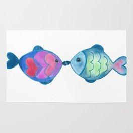 Kissing Fish Rug
