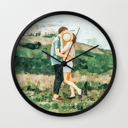 Togetherness #painting Wall Clock