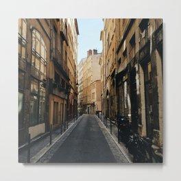 Streets of Old Lyon Metal Print