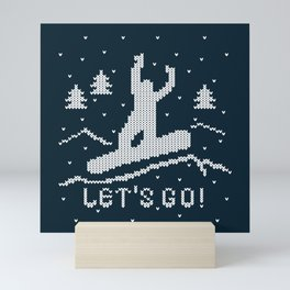 Let's go Snowboarding! Mini Art Print