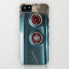Vintage Chevy Turquoise Blue & Red iPhone Case