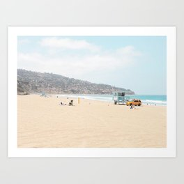 Redondo Beach // California Ocean Vibes Lifeguard Hut Surfing Sandy Beaches Summer Tanning Art Print