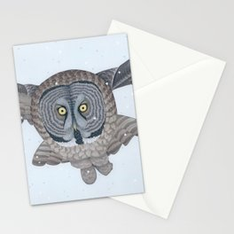 Great Gray Owl Stationery Cards