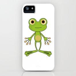 Cartoon Standing Frog iPhone Case