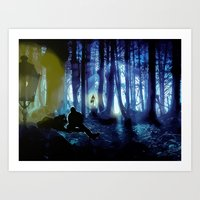 sterek Art Prints featuring Sterek by reliand