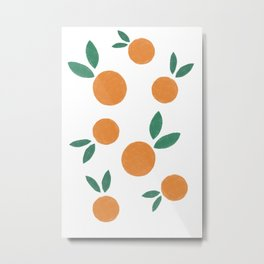 Minimalist Oranges Metal Print
