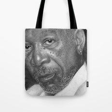 Morgan Freeman Traditional Portrait Print Tote Bag