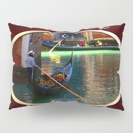 Gondoliers On A Venetian Canal Pillow Sham