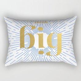 Think Big Rectangular Pillow