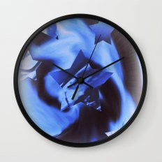 Starburts II cold blue Wall Clock