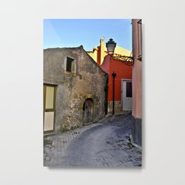 Medieval village of Sicily Metal Print