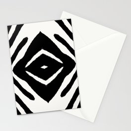 Black Ink Medallion by Juul Stationery Cards