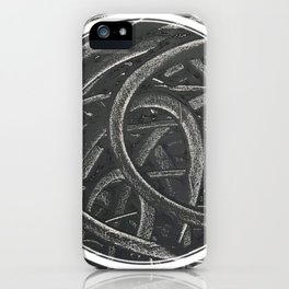 Junction - line/circle graphic iPhone Case