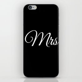 Mrs (Black) iPhone Skin