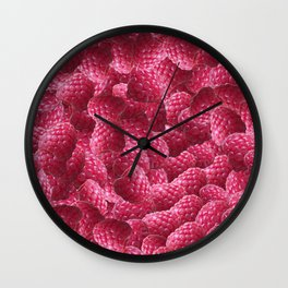 Raspberry Roulade Wall Clock