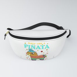 Cinco de mayo Funny Party like a Pinata and Get SMASHED! print Fanny Pack