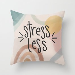 Stress Less Boho Design Throw Pillow