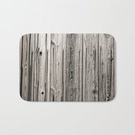 Black white and grey  wooden floor Bath Mat