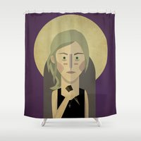 buffy Shower Curtains featuring Buffy The Vampire Slayer by Gary  Ralphs Illustrations