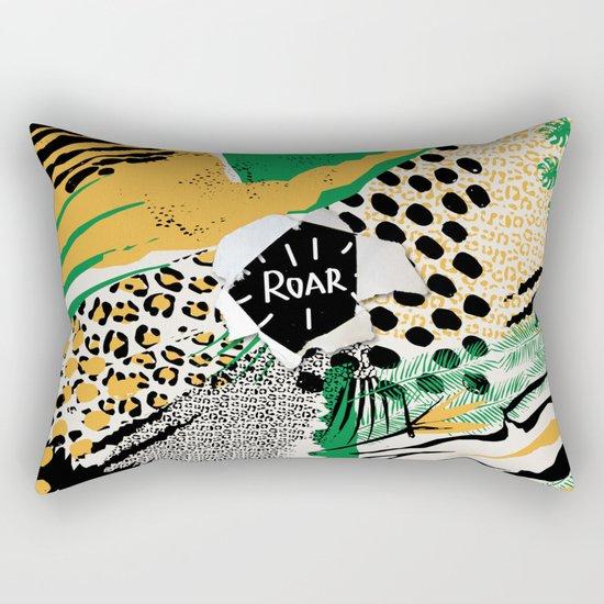 ROAR (wild cats) Rectangular Pillow
