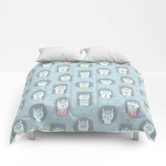 Llama family Comforters