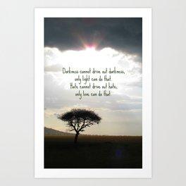 Let the light shine Art Print
