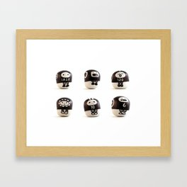 stoneheads 001 Framed Art Print