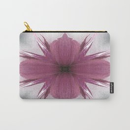 Pink Windflower 4 Flowers Floral Carry-All Pouch