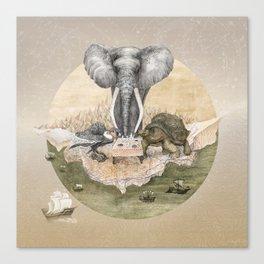 Elephant tea time Canvas Print