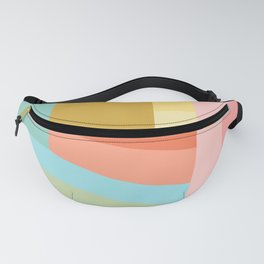 Abstract Geometry Steps in Beachy Pastels Fanny Pack