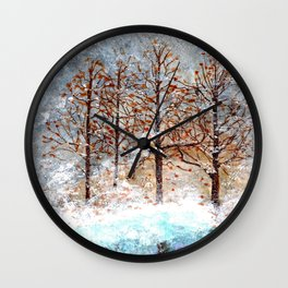 Snow Flurries on Moon Lake up Dewdrop Holler Wall Clock