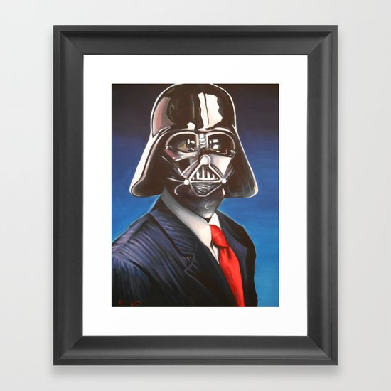 Dapper Vader Framed Art Print