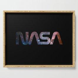 NASA font Serving Tray