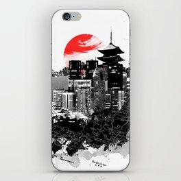 Abstract Tokyo-Shinjuku/Kyoto - Japan iPhone Skin