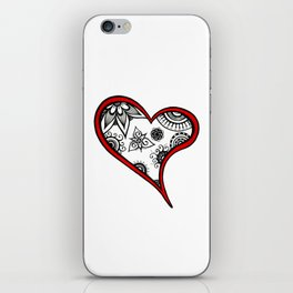 Tangled heart iPhone Skin