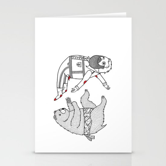 On the bear's uncontrollable urge to toss his master in the air Stationery Cards
