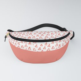 Triangles Coral Red Fanny Pack