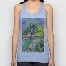 Olive Tree & Gorse Bush Unisex Tank Top