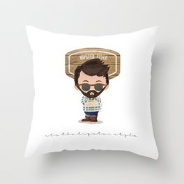I'm a hipster Throw Pillow