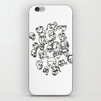 talking heads iPhone & iPod Skins featuring Talking Heads by Melanie Carter